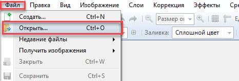 открыть картинку в Paint.NET