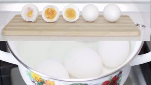сваренное в крутую яйцо