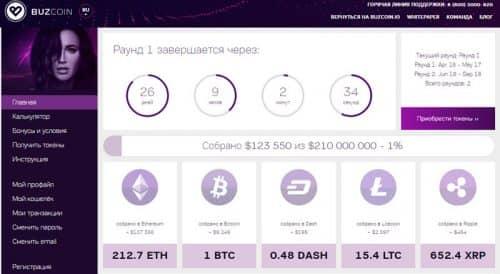 Криптовалюта Ольги Бузовой BUZ