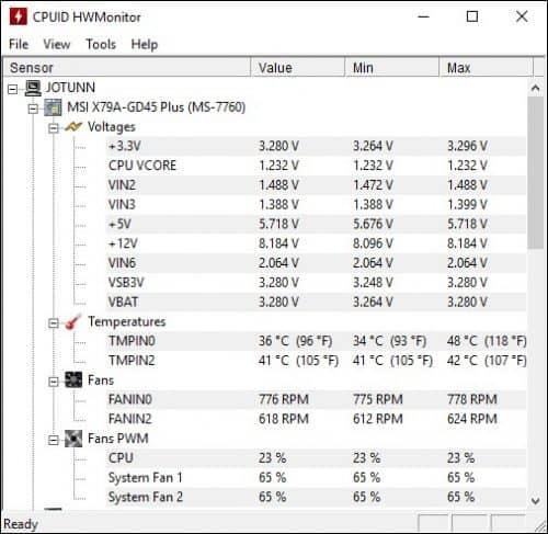 температура процессора видеокарты