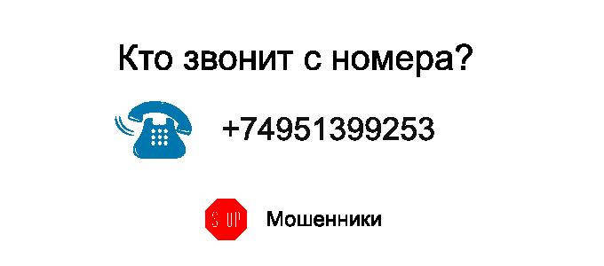 Кто звонит с номера +74951399253